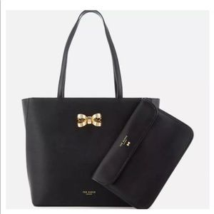 Ted Baker Shopper Bag with Bow - Black 2 Pics